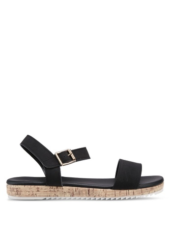 Bata black Strappy Sandals 114F3SH633C2E3GS_1