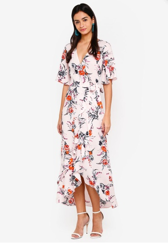 Miss Selfridge pink Trailing Bloom Occassion Dress 61164AA1F6B846GS_1
