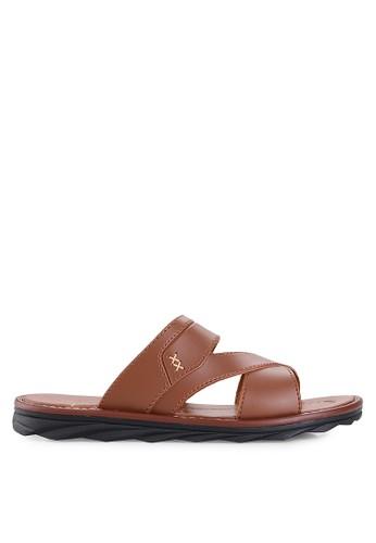 Homyped brown Civic Men Sandals HO842SH89HCWID_1