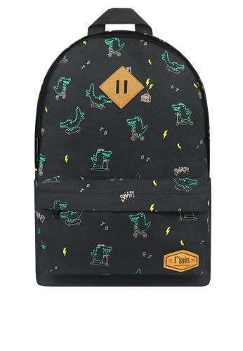 Ripples black Crocodile Backpack 65578KC26E8EE6GS_1
