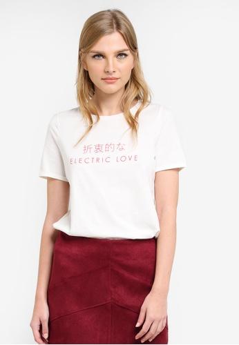 Vero Moda white Isabel T-Shirt VE975AA0SA79MY_1