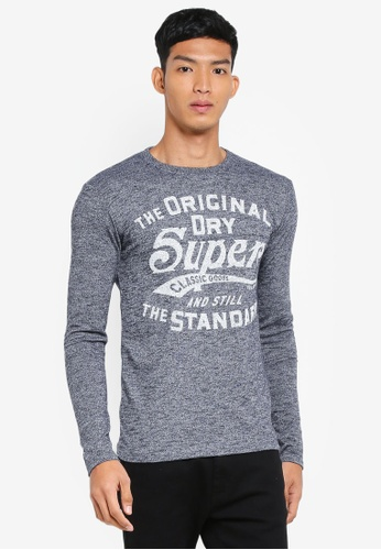 Superdry navy Classic Standard Long Sleeve Tee A7EE2AACD05F86GS_1