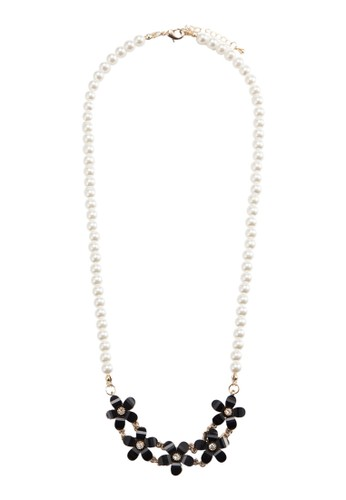 Pearlescent Black Pesprit 尖沙咀etal Necklace, 飾品配件, 項鍊