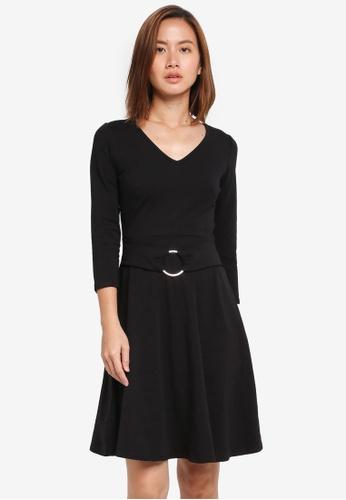 Dorothy Perkins black Belted Dress 0AC40AA332638BGS_1