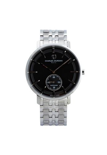 Charles Jourdan silver Charles Jourdan CJ1032-1332 - Jam Tangan Pria - Silver BO710AC0WAATID_1