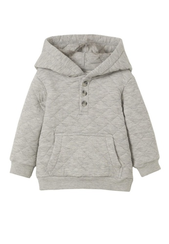MANGO BABY grey Quilted Buttons Hoodie 24E80KA386156CGS_1