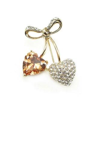 Glamorousky silver Elegant Brooch with Austrian Element Crystals B9971ACF5C355EGS_1