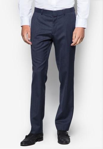 暗紋修身西裝長褲, 服esprit旗艦店飾, 修身版型