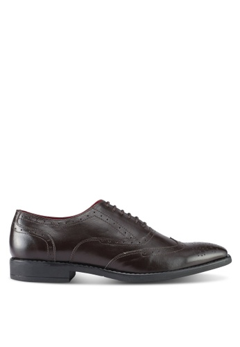 ACUTO brown Leather Dress Shoes AC283SH0SL5DMY_1