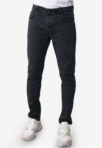 Trendyol black Slight Distressed Skinny Jeans 18D76AA8894B25GS_1