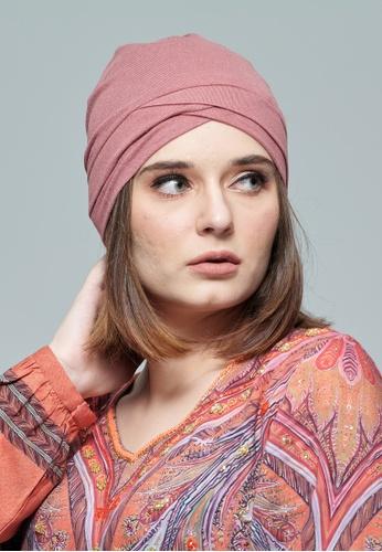 KASHKHA pink Jersey,Easy To Style Turban 33E81AA9F7152CGS_1