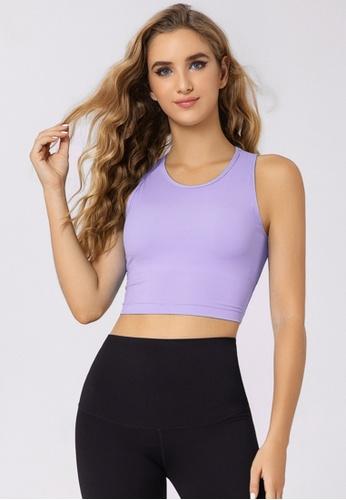 Trendyshop purple Quick-Drying Yoga Fitness Sports Sleeveless Bras 36688US364FC7CGS_1