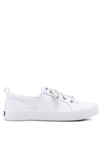 SPERRY white Crest Vibe Ap Crepe Leather Sneakers EAFAFSH4BC9B80GS_1