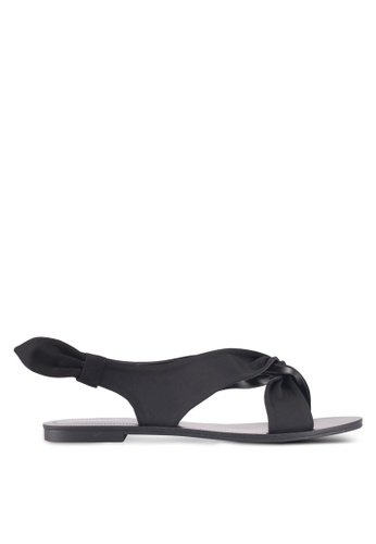ZALORA black Side Knot Detail Sandals 59587SH771F649GS_1
