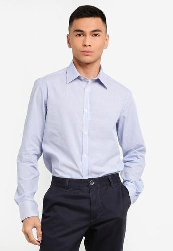 OVS 白色 Men's 經典長袖襯衫 EB963AA3ADB486GS_1