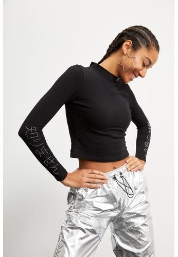 DeFacto black Woman Knitted Long Sleeve T-Shirt 7E8C3AA8E7A1D1GS_1
