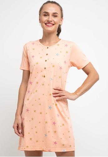 Puppy orange Dress Daster Sleepwear 145B9AA4E809C4GS_1