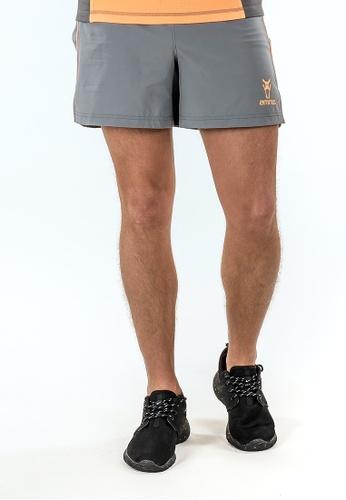 """AMNIG grey and orange Amnig Men Aery 5"""" Running Shorts (Grey/pop Orange) AM133AA24DYDMY_1"""