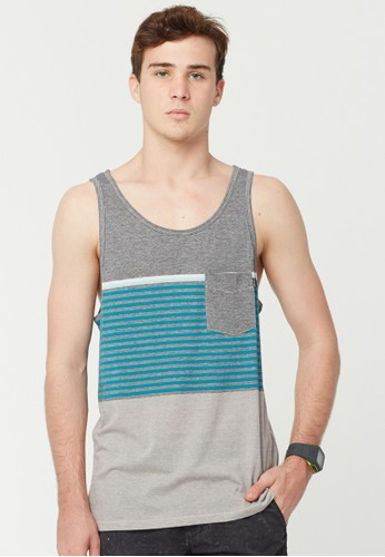 Rip Curl Raptures Stripe Men Tank - Black