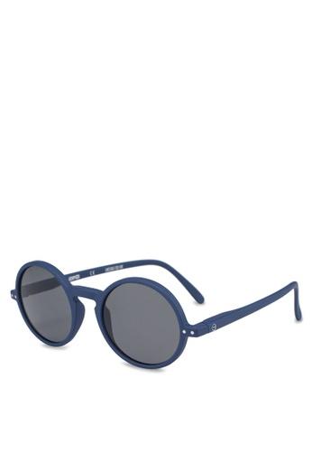 Izipizi 海軍藍色 啞光鏡框中性太陽眼鏡 67AE8GLB774899GS_1
