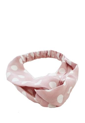 San Marco pink Twisted Headband Polka-Dotz Baby Pink 57E8BBE1C530D2GS_1