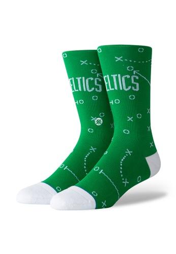 STANCE green STANCE Socks Green Celtics Playbook Large 6D9BFAA62C3271GS_1