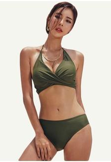 ec3c7cb59ca Buy Rosy Rouge Korean Trendy High Waisted Bikini Set | ZALORA HK