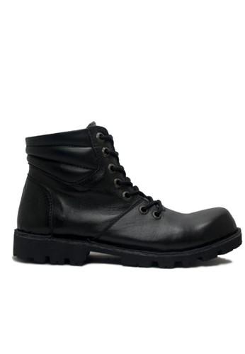 Cut Engineer black Cut Engineer Boots Combat Safety High Quality Genuine Leather Black CU226SH57HFEID_1