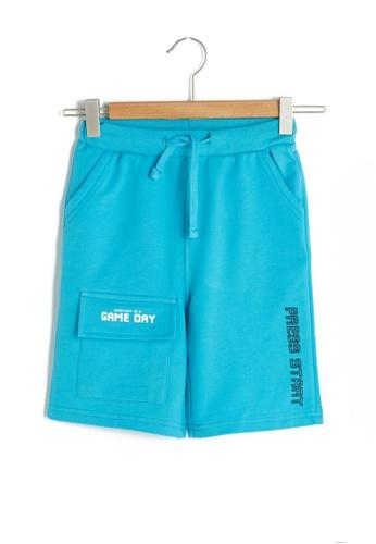LC Waikiki green Elastic Waist Printed Boy Shorts E6DCDKA9438287GS_1