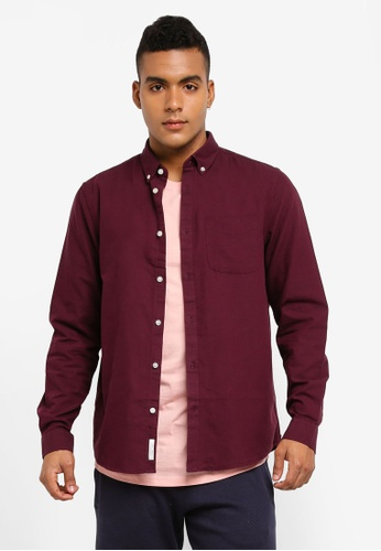 River Island red Berry Oxford Shirt 06A51AAE761F68GS_1