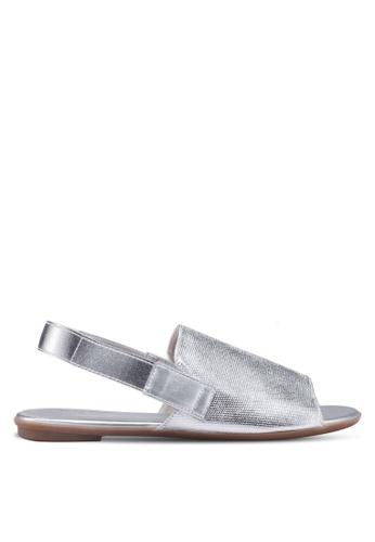 Something Borrowed silver Sling Back Sandals BDFB1SHB932017GS_1
