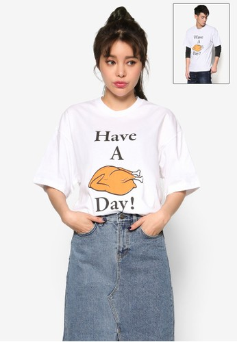 Have Aesprit tw Chicken Day 短袖T 恤, 服飾, 上衣