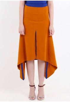 [PRE-ORDER] Uneven Hemline Skirt with Front Slip