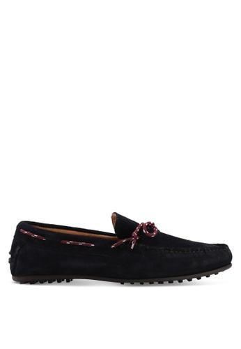 Selected Homme navy Sergio Suede Moccasins 36C71SH88B0718GS_1