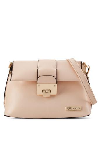 florenzo beige Florenzo Foldover Sling Bag FL898AC0RUSEMY_1