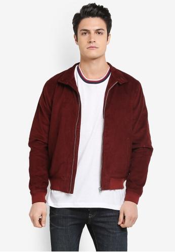 Topman 紅色 燈芯絨時尚夾克外套 CCB47AAC4CA802GS_1