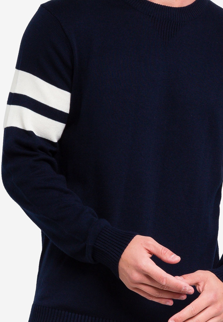 OVS Captain Sky With Bands Pullover Cotton Blend wzqYERI