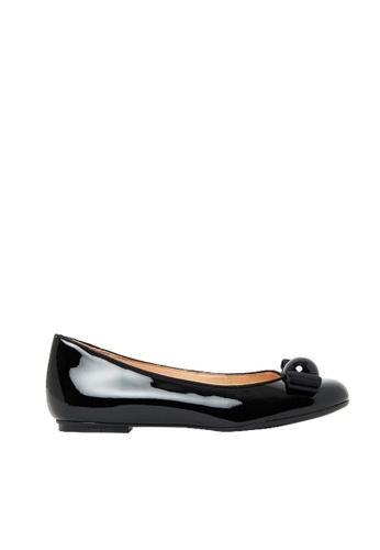 Nina Armando black Sally Patent Leather Ballet Flat NI342SH0FV45SG_1