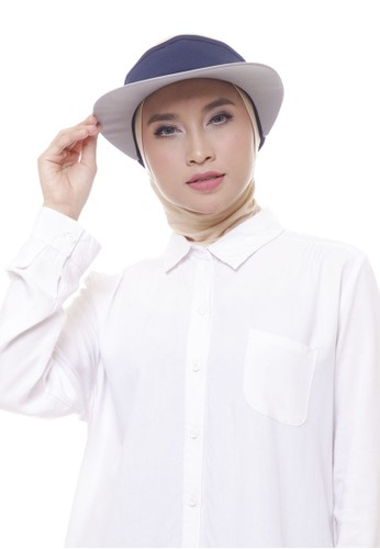 Attiqa Active multi Giant Visory (Navy & White), Woman Cap 16A67AC183AE29GS_1