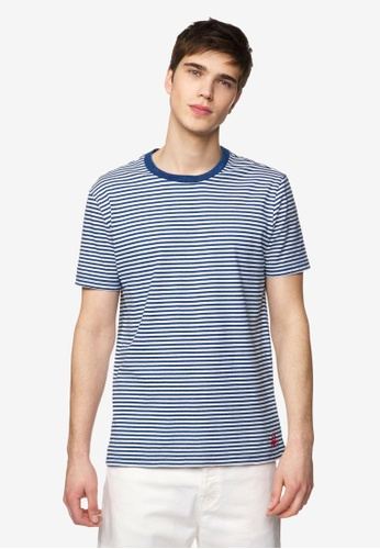 United Colors of Benetton 黑色 橫條紋休閒短袖T恤 B9999AA125A3C6GS_1