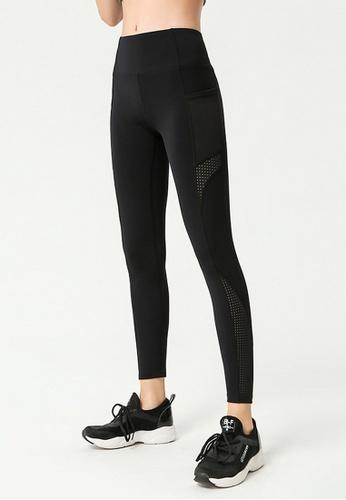 B-Code black ZYG3062-Lady Quick Drying Running Fitness Yoga Sports Leggings -Black CC729AAD27AE5FGS_1