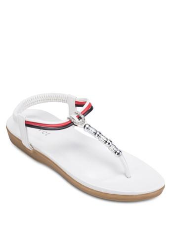 金屬飾繞踝夾腳涼鞋, esprit 高雄女鞋, 鞋