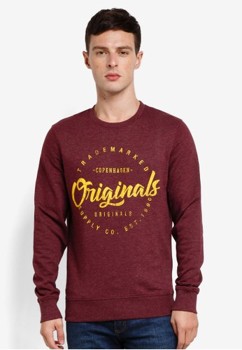 Jack & Jones red Hango Sweatshirt EACC5AA8E334CFGS_1