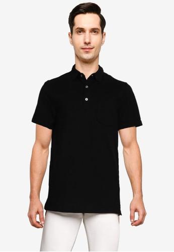 Banana Republic black Performance Pique Polo Shirt 5B74EAAA86D62AGS_1