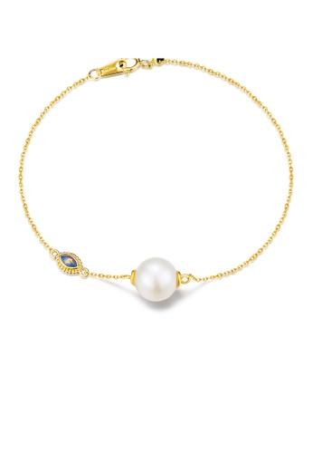 SUNSET 金色 Premium 18K Gold Pearl Bracelet D50CEACA6592D1GS_1