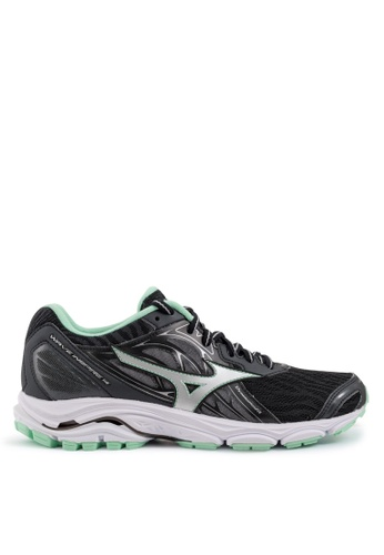 Mizuno black and green Wave Inspire 14 Running Shoes MI461SH2VXUFHK_1