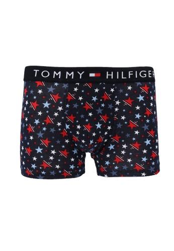 Tommy Hilfiger navy All-Over Print Cotton Trunks - Tommy Hilfiger 44A9FUS97D3D8DGS_1