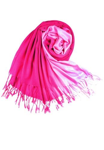 SHINE pink Gradient  Pashmina SH554AC11JKASG_1