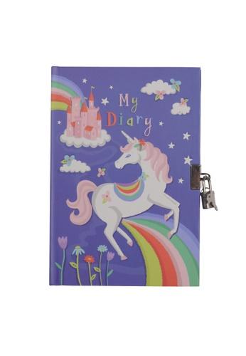 Tiger Tribe Lockable Diary - Unicorn Rainbows 43C81TH966F10BGS_1