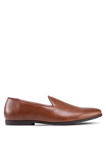 Burton Menswear London brown Tan Simba Loafer Shoes 8C2D3SHAE6C25BGS_1
